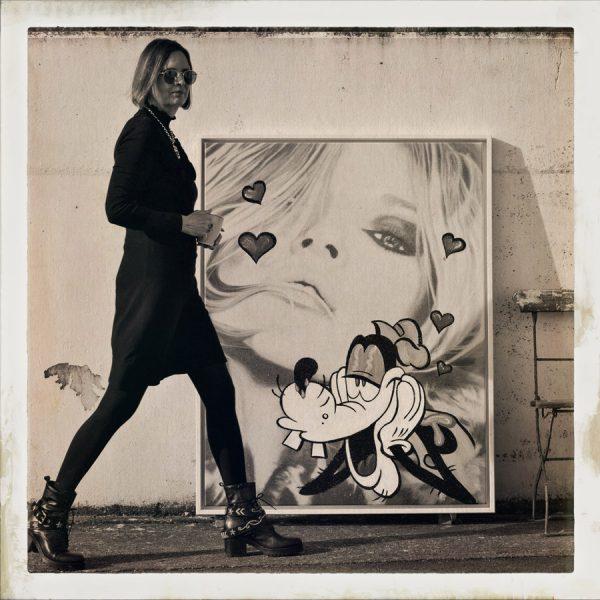 """Kate Moss"" | Goofy | Barbara Mietz Steinmann | Mixed Media auf Leinwand | 130 x 100 cm | Unikat"